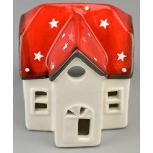 Vianočný keramický domček, 8 cm