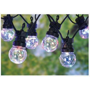 Vonkajšia reťaz s 10 žiarovkami Remi, 50 farebných LED