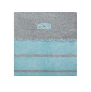 Detská bavlnená deka Womar 75x100 šedo-modrá